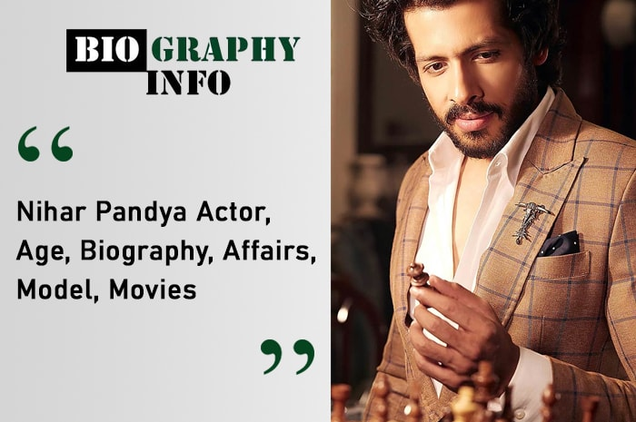 Nihar Pandya Actor Image