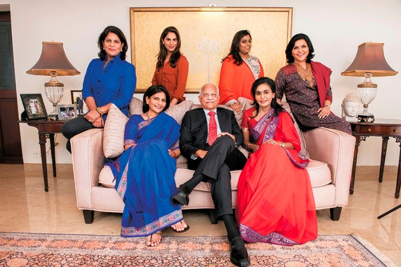 Upasana Kamineni with her Grandfather Mother and aunts