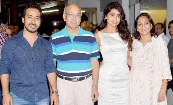Shriya Saran Family