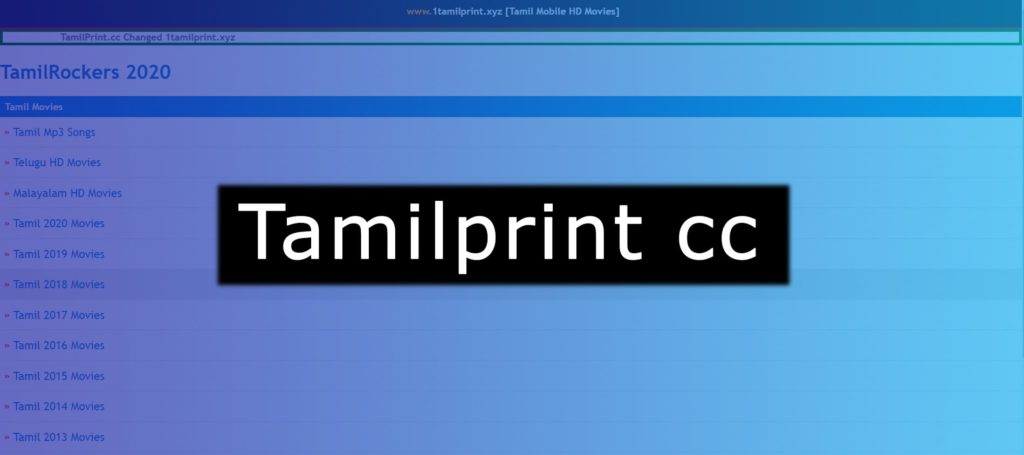 Tamilprint cc Website