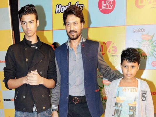 Irrfan Khan with his Childrens