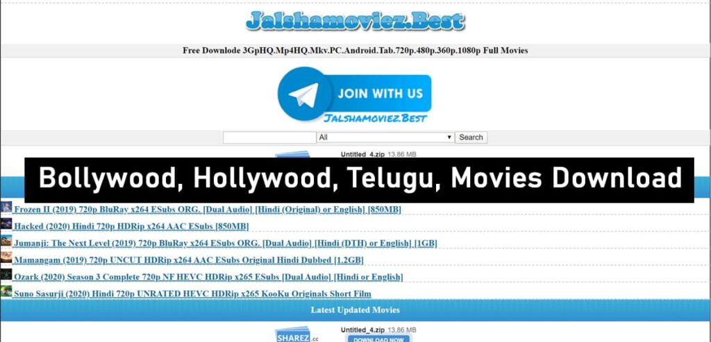 Jalshamoviez Website