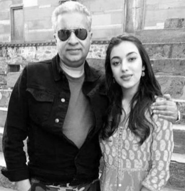 Sahher Bambba With Her Father
