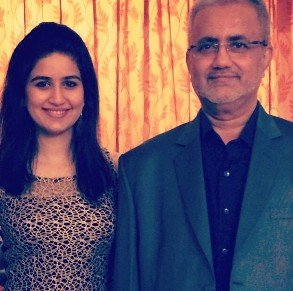 Vaidehi Parshurami With Her Father