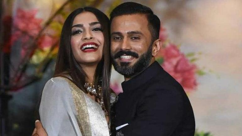 sonam kapoor with her husband