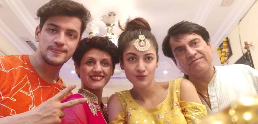Aditi Sharma With Her Family