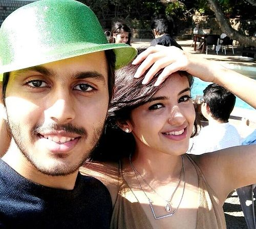 Malvika Sharma With Her Brother