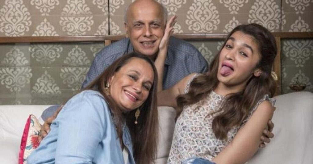 Alia Bhatt With Her Mother and Father