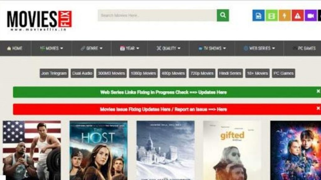 MoviesFlix Website