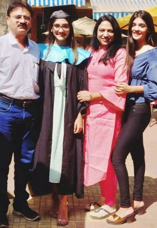 Pranali Rathod With Her Family
