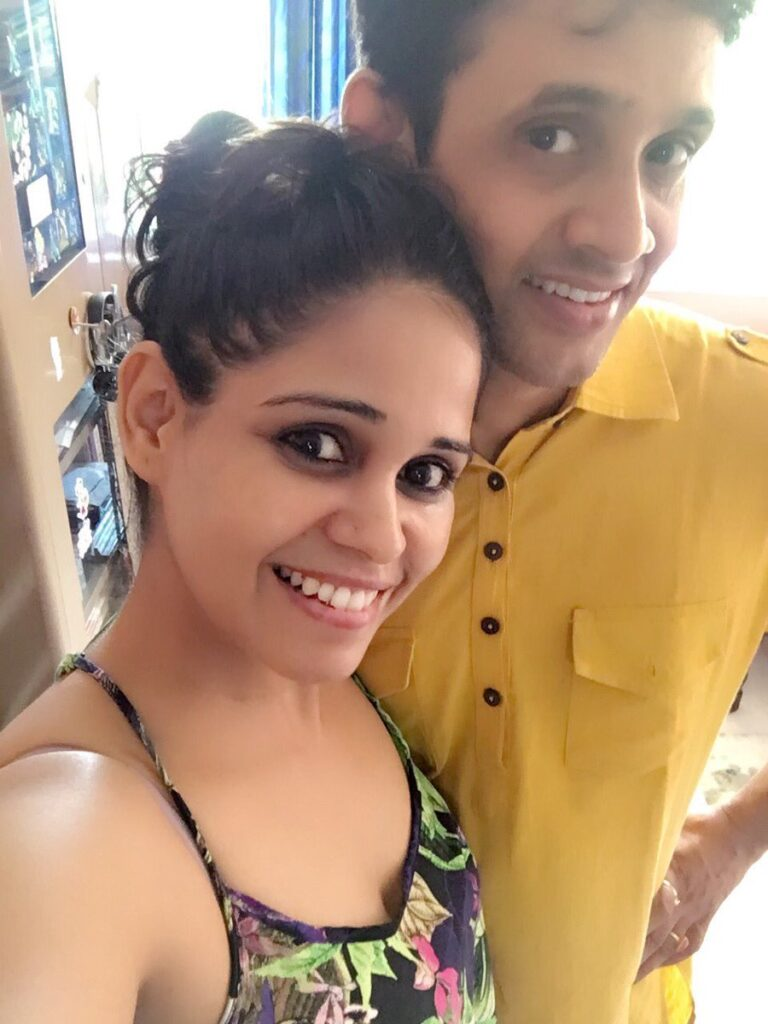 garima vikrant singh With Her Husband