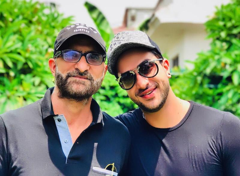 Aly Goni with Her Father
