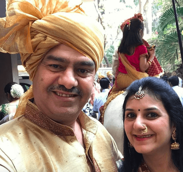 Viren Merchant With Her Wife