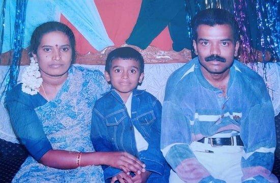 Raghu Gowda Family
