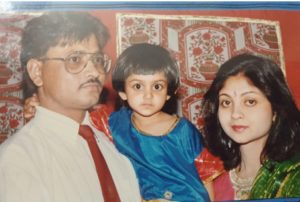 Tanvi Dogra With His Mother and Father